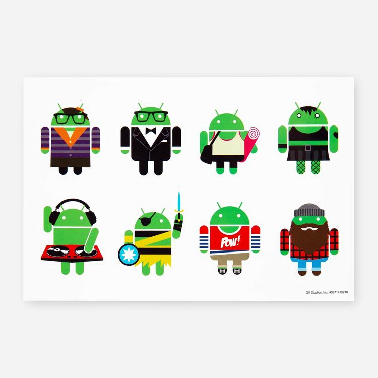 Review Of Android SM S/F18 Sticker Sheet $2.10Review Of Android SM S/F18 Sticker Sheet $2.10