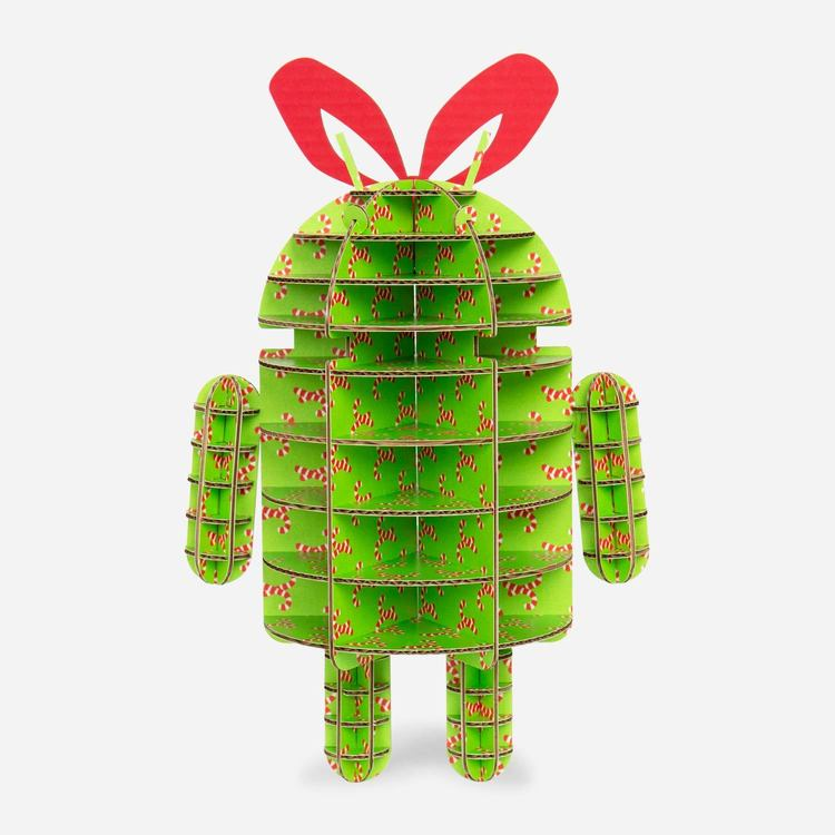 Review Of Candy Cane Android Cardboard Sculpture $10.00