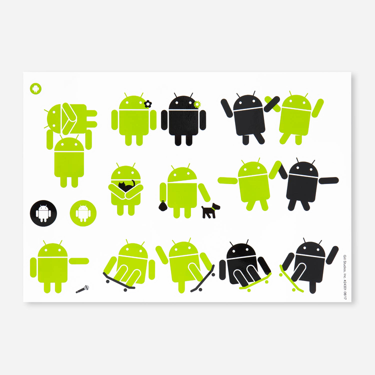 Review Of Android Large Removable Sticker Sheet $2.10