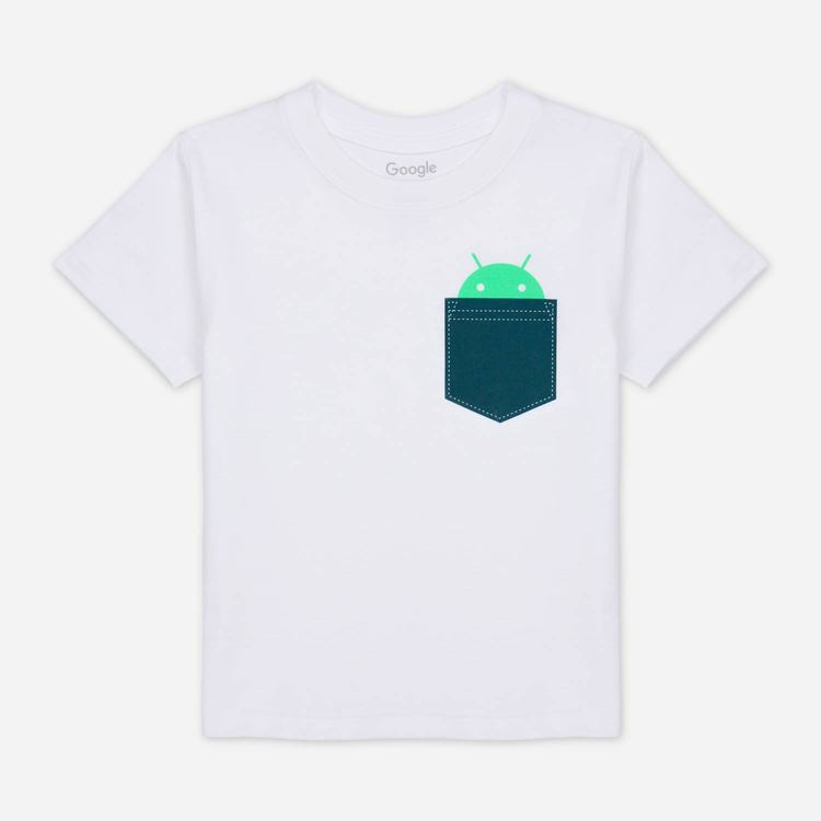 Review of Android Pocket Toddler Tee White $23.00