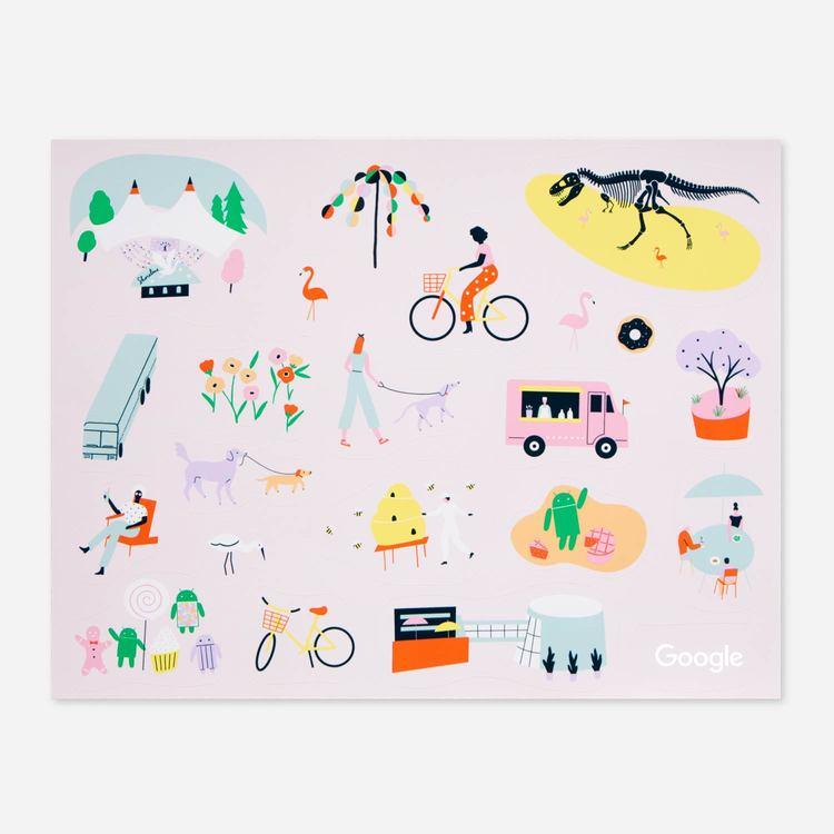Review Of Google Mural Sticker Sheet $3.00
