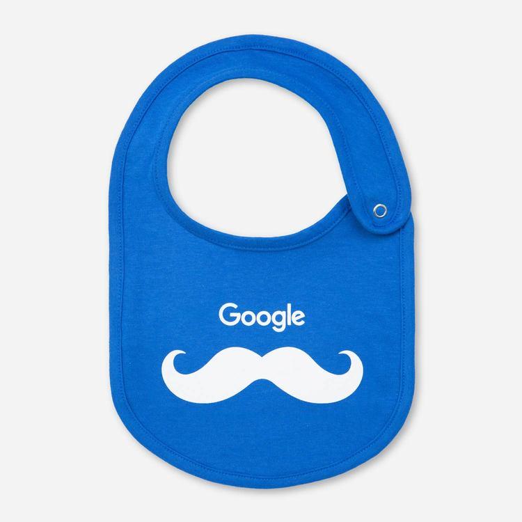 Google Mustachio Bib Blue 30492ca54de3