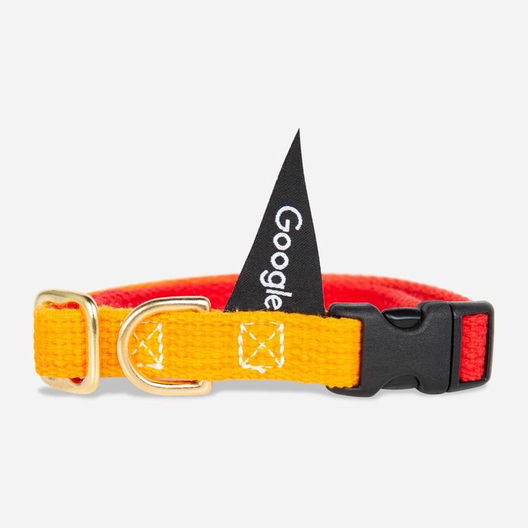 Review Of Google Medium Pet Collar (Red/Yellow) $35.00