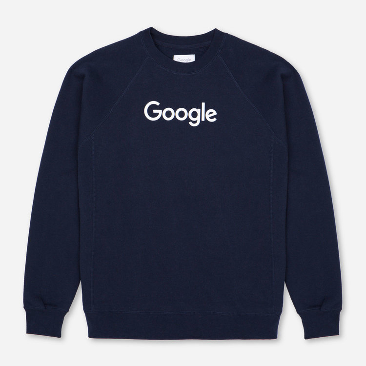 Review of Google Crewneck Sweatshirt Navy $55.00
