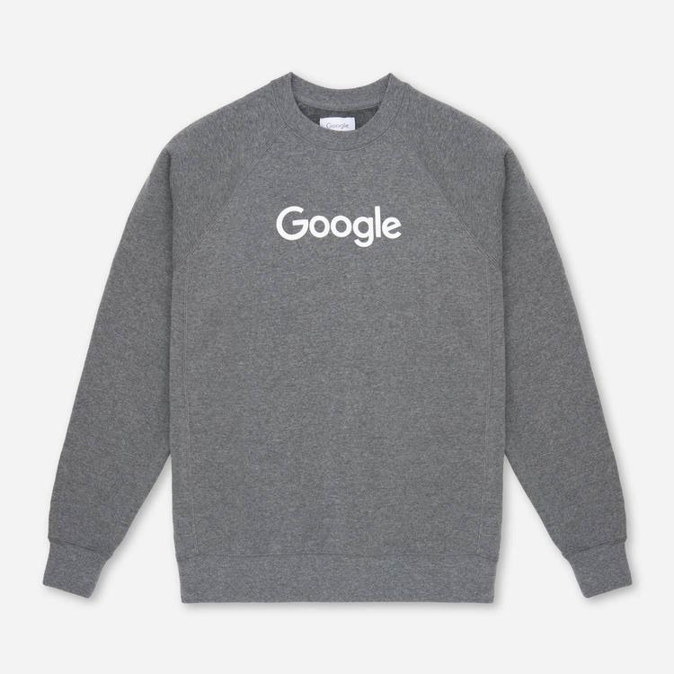 Review of Google Crewneck Sweatshirt Grey $55.00