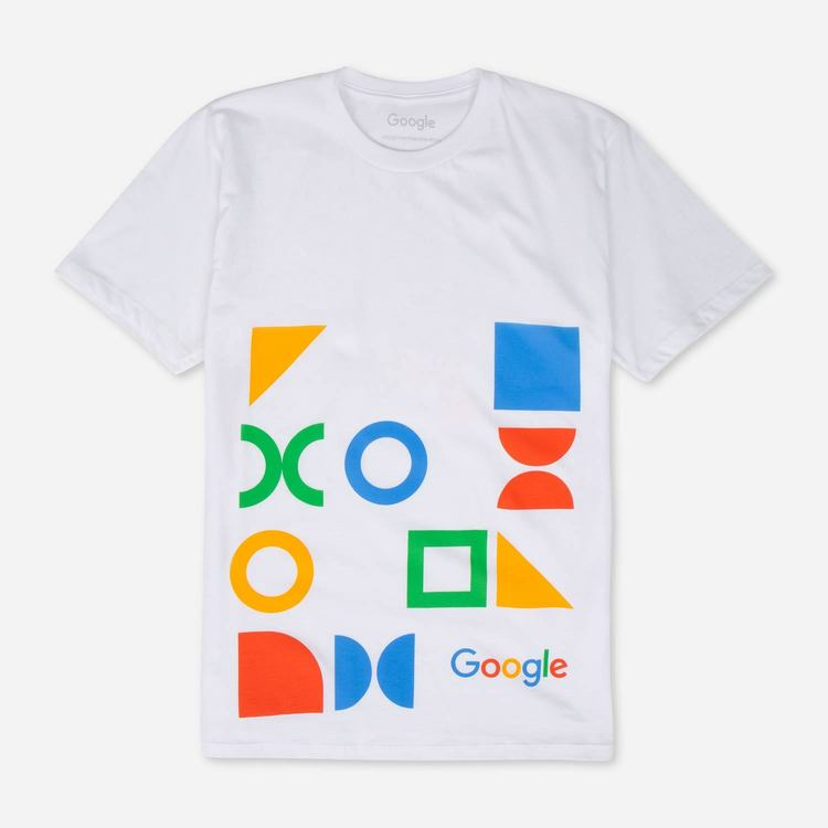 Review of Google Youth Jumbo Print Tee White $17.50