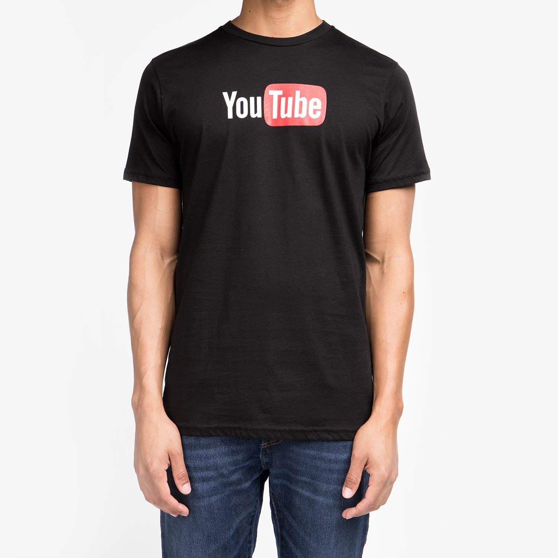 YouTube Men's Short Sleeve Hero Tee Black