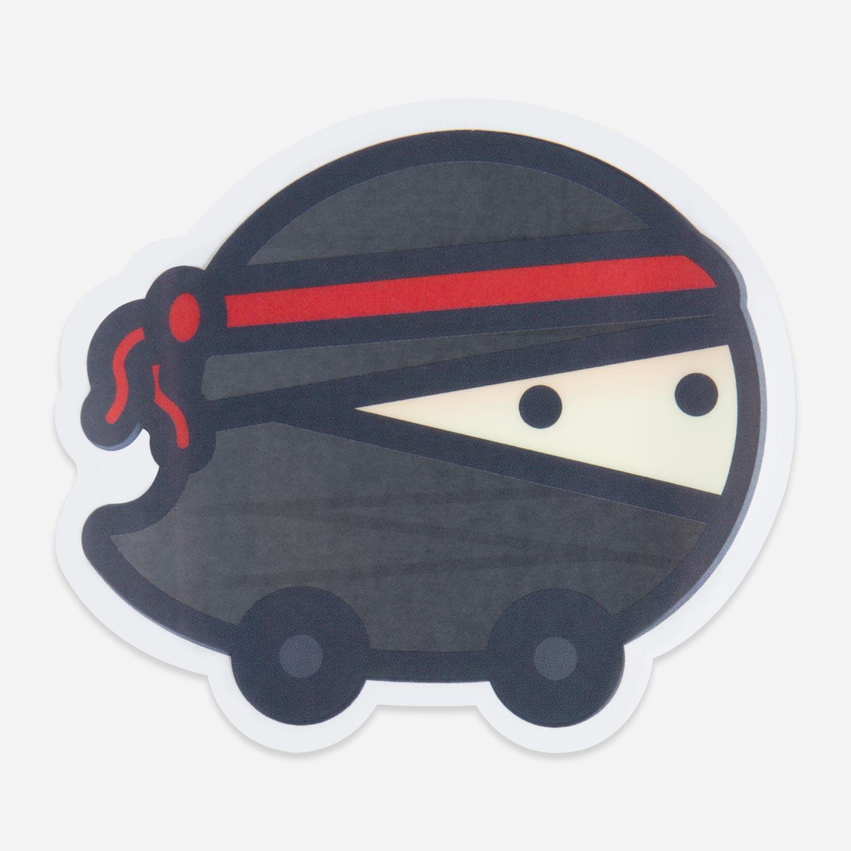 Waze Mood Ninja Window Decal