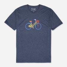 Google Campus Bike Eco Tee Navy $25.00